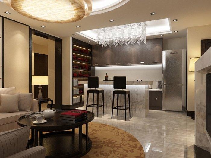 中式风格-360平米四居室-装修样板间