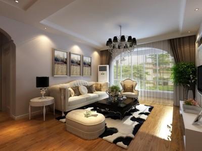简欧风格-97.13平米二居室装修样板间