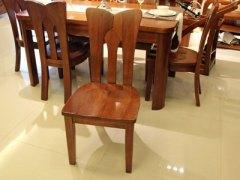 【逛蠡口】木之家简约现代餐厅海棠木纯实木3M02餐椅