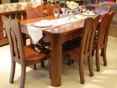【逛蠡口】木之家餐厅海棠木纯实木3L12餐桌