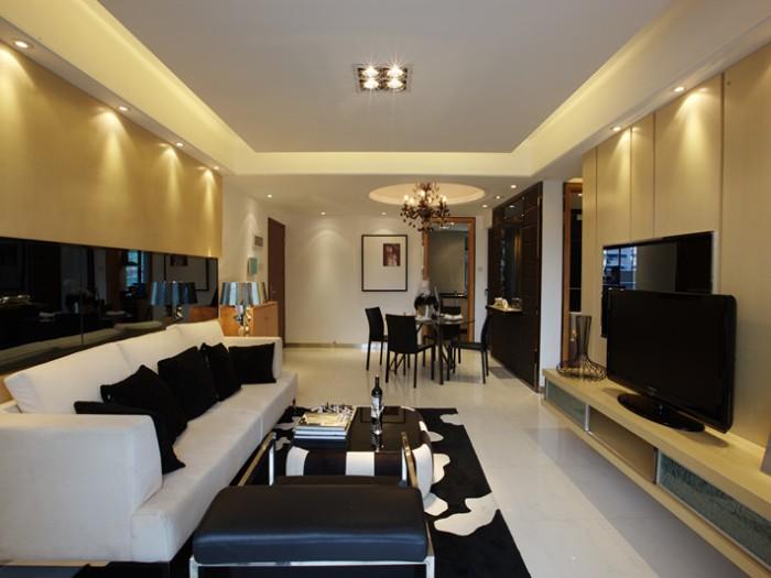 东南亚风格-143平米三居室-装修样板间