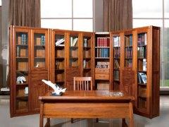 【逛蠡口】木之家书房海棠木纯实木3E03-9R书柜组合
