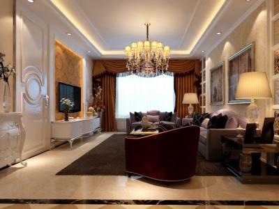 西式古典-137平米三居室装修样板间