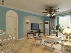 地中海风格-110平米三居室装修图片