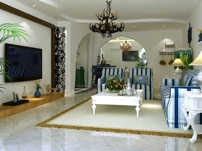 地中海风格-188平米四居室-装修样板间