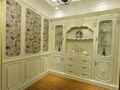 重庆新义高家具 实木描银展示柜 餐边柜 法式风格