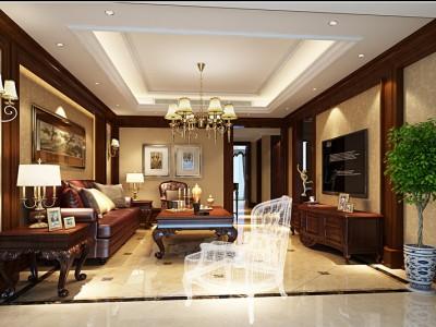 西式古典-220平米四居室装修样板间