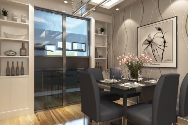 三居室餐厅酒柜装修效果图欣赏室内设计师李勇设计
