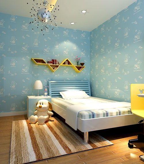 田园风格儿童房壁纸图片-搜房网装修效果图