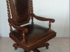 麦好木梅杰卡森经典美式皮雕椅子