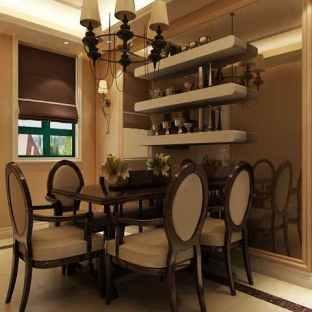 欧式四居室餐厅酒柜装修效果图
