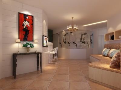 欧美风情-140平米三居室装修设计