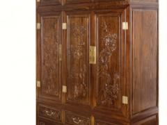 一木一心 三门顶箱衣柜 明清古典仿古家具 老榆木大衣柜
