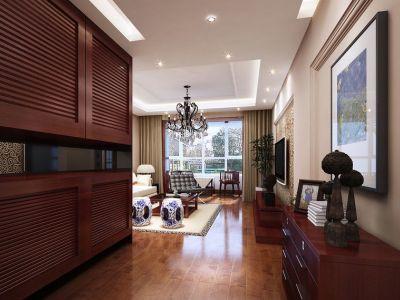 中式风格-100.64平米三居室装修样板间