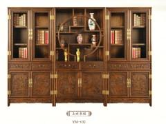 一木一心 山水多宝柜(中)现代中式实木家具 古典明清仿古书柜