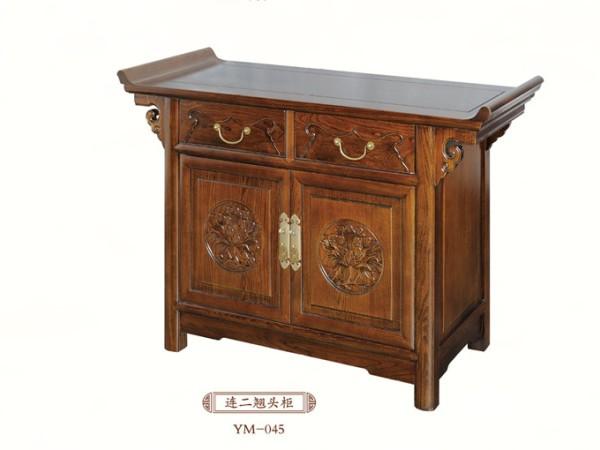 一木一心 连二翘头柜 明清老榆木玄关桌