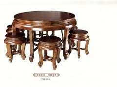 一木一心 团圆餐桌 仿古明清古典榆木桌椅