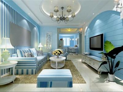 地中海风格-97平米二居室装修样板间