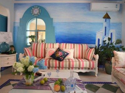 地中海风格-199.22平米四居室装修样板间