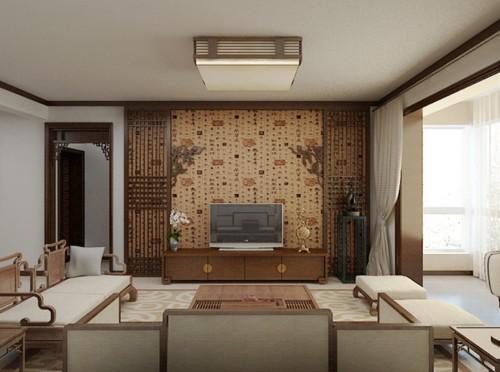 喜欢 1 先来个两个客厅的整体对照  二合一简中式风格 喜欢 1 餐厅图片