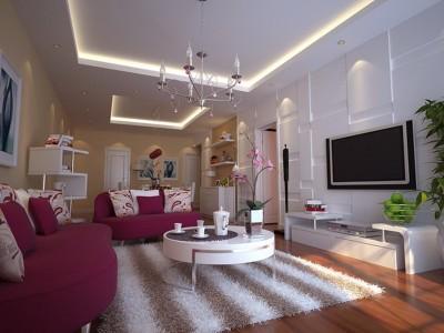 现代简约-95平米二居室装修样板间