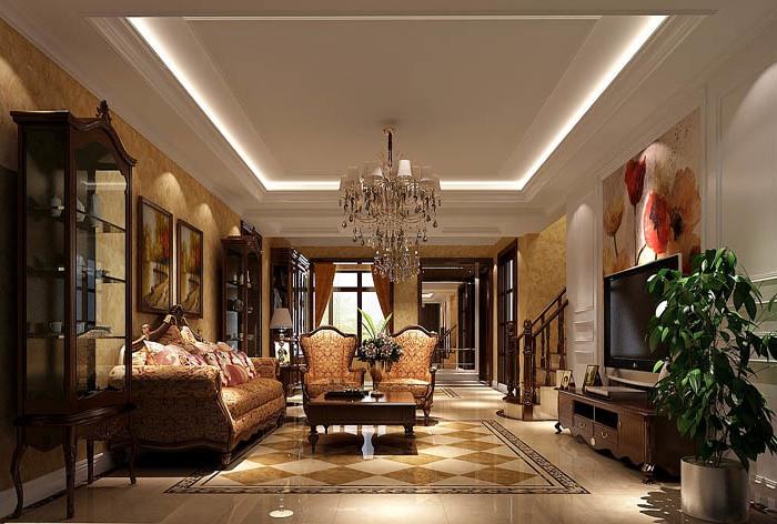 托斯卡纳风格-180平米四居室-装修设计
