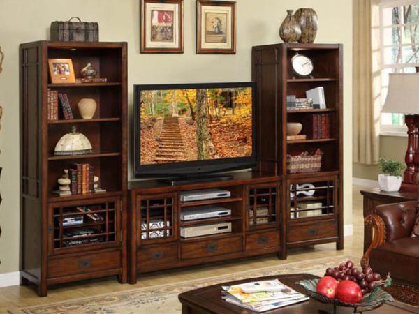 美立方外贸家具美式电视柜