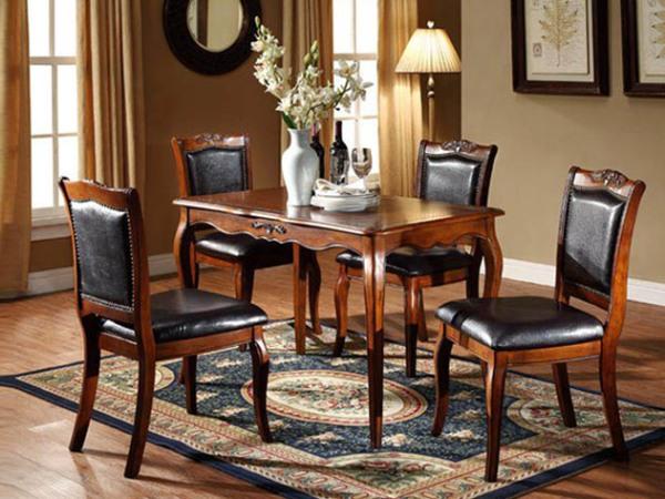 美立方外贸家具美式古典餐桌