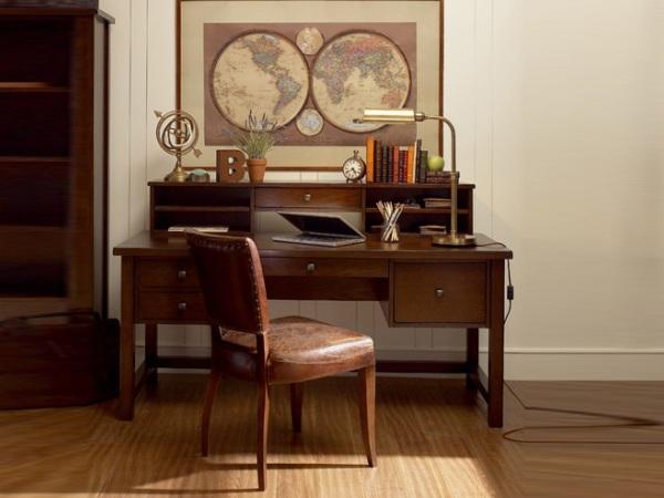 美立方外贸家具美式书桌