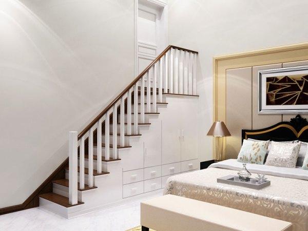 别墅实木楼梯设计,百姓园楼梯