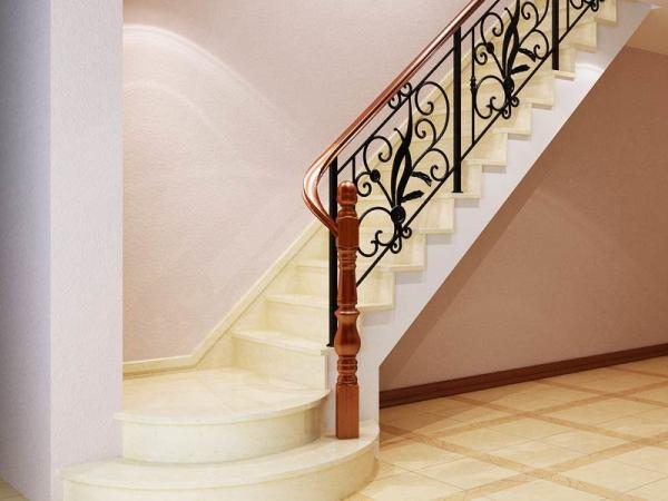 别墅铁艺楼梯--百姓园铁艺楼梯公司