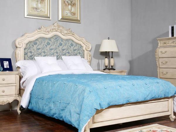 美立方外贸家居法式软包床