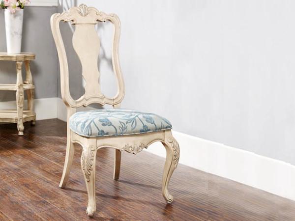 美立方外贸家居法式无扶手餐椅
