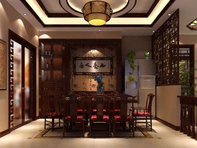 中式风格-320平米四居室装修样板间
