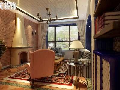 地中海风格-90平米二居室装修样板间