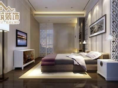 中式风格-100.51平米二居室装修设计