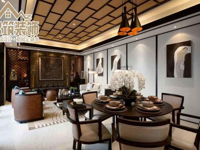 中式风格-99.69平米三居室-装修样板间