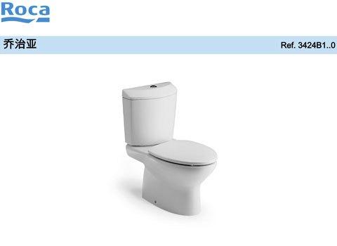 乔治亚底座 乐家分体座厕 阻尼盖板(地排坑距400mm)
