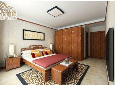 中式风格-124平米三居室装修样板间