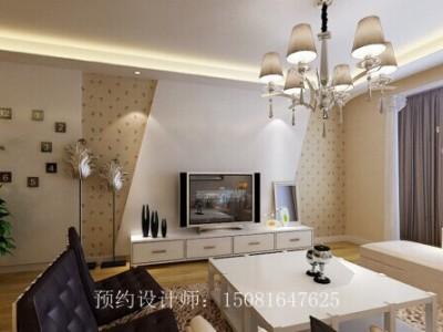 现代简约-89平米三居室装修样板间