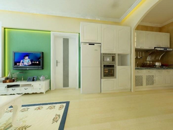 现代简约-73.35平米一居室-装修样板间