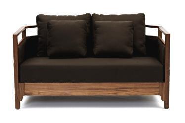 多少Moreless咖啡色双人沙发
