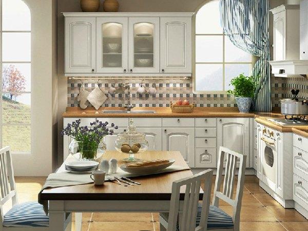 志邦整体橱柜 橱柜定做古典模压石英石厨柜 桑托瑞尼整体定制橱