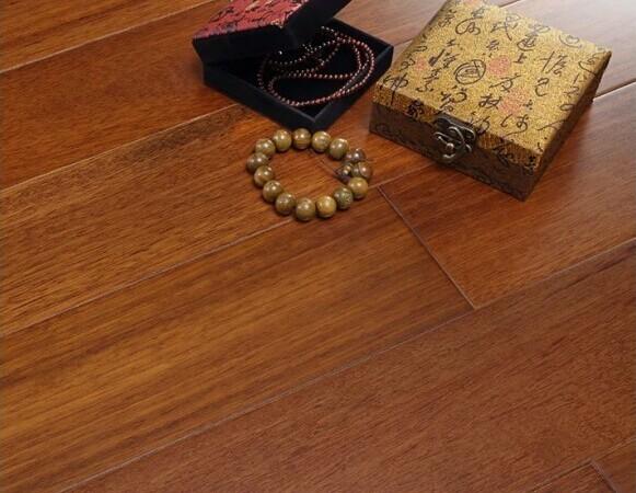 安信地板 双柱苏木纯实木地热地板