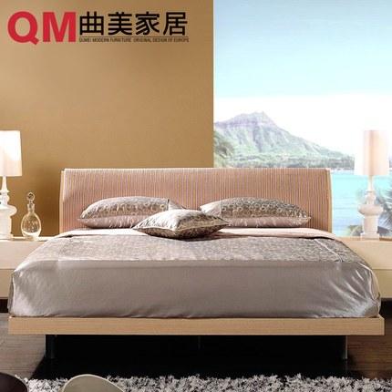 现代简约曲美家具双人床 1.5米, 1.8米,多色