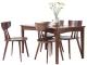 曲美家具 现代简约 北欧实木餐桌 一桌四椅 BO2A