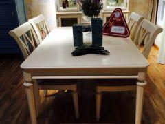 悦美尚品美式精品餐桌椅套餐(白色)