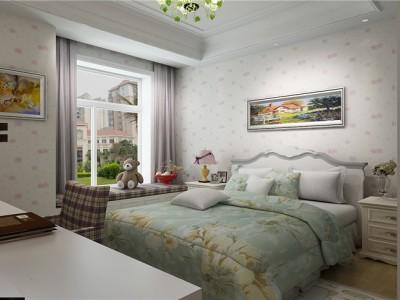 欧美风情-199平米三居室装修样板间