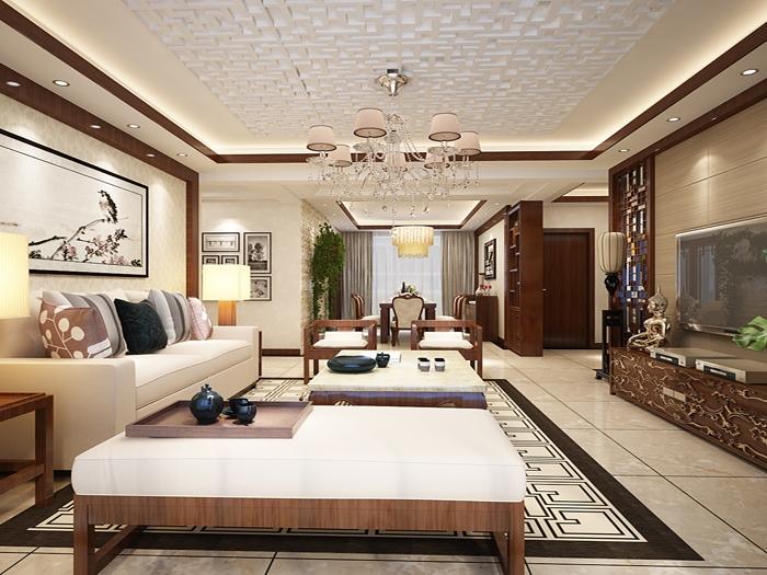 中式风格-192.32平米四居室-装修样板间