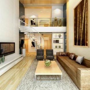 日韩风格三居室客厅装修效果图